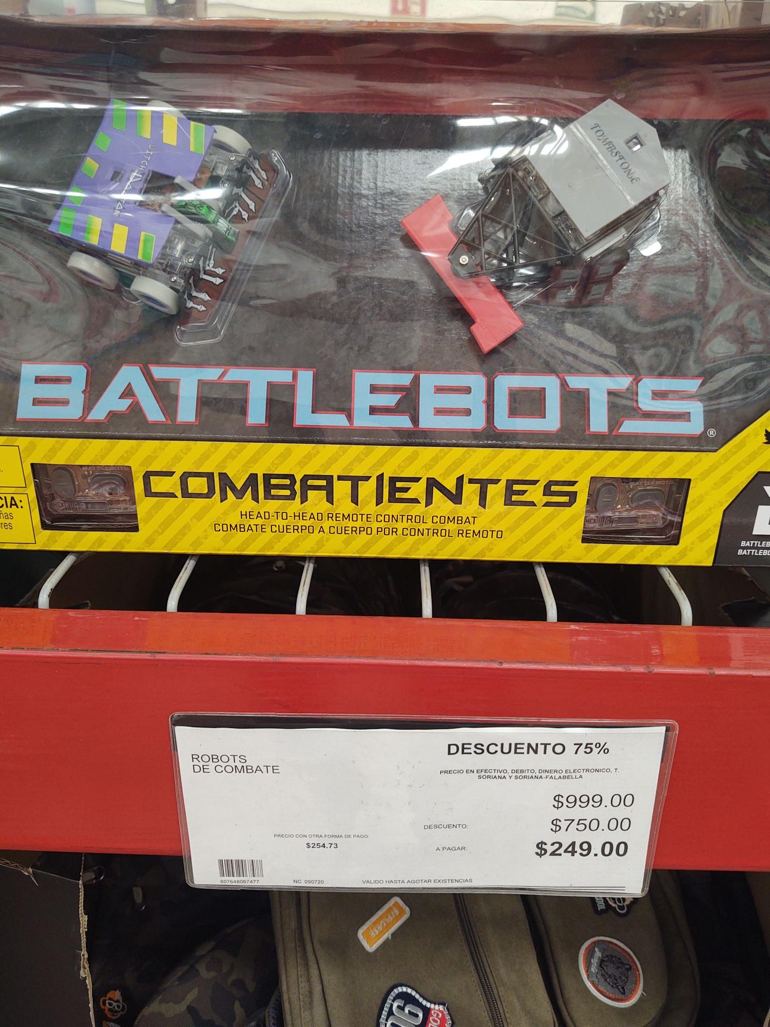Coty Club Puebla: Set de 2 robots de combate