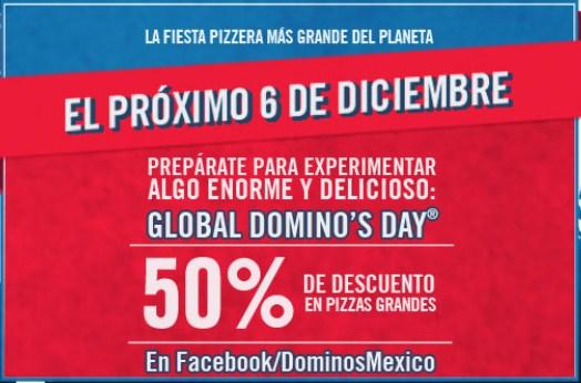 Global Domino's Day: 50% de descuento en pizza grande en Dominos Pizza