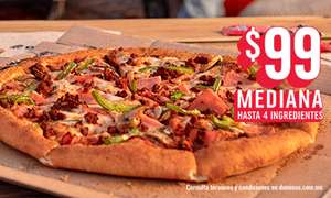 Domino's Pizza: PIZZA MEDIANA HONOLULU POR 99 PESOS