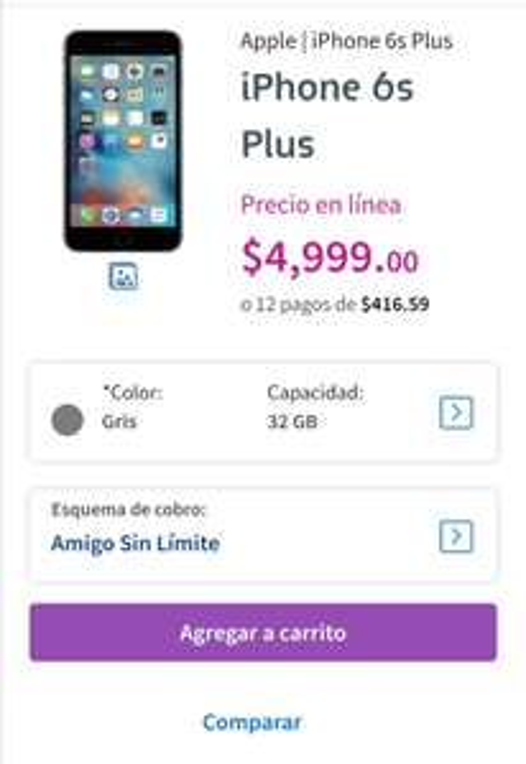 Telcel iPhone 6s Plus 32gb