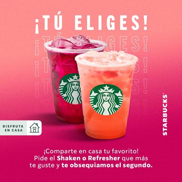 Starbucks: 2X1 shakens y refreshers