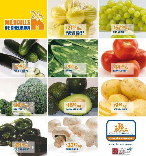 Miércoles de frutas y verduras en Chedraui diciembre 5: naranja o toronja $2.50 y más