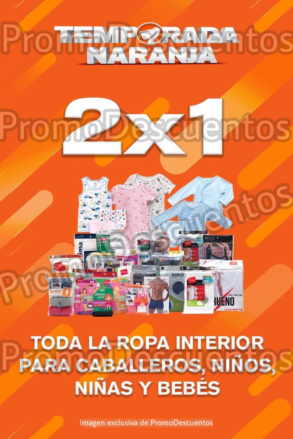 Temporada Naranja 2020 en La Comer: 2x1 en TODA la Ropa Interior