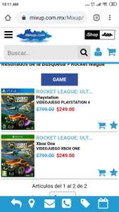 Mixup Rocket League PS4 y xbox