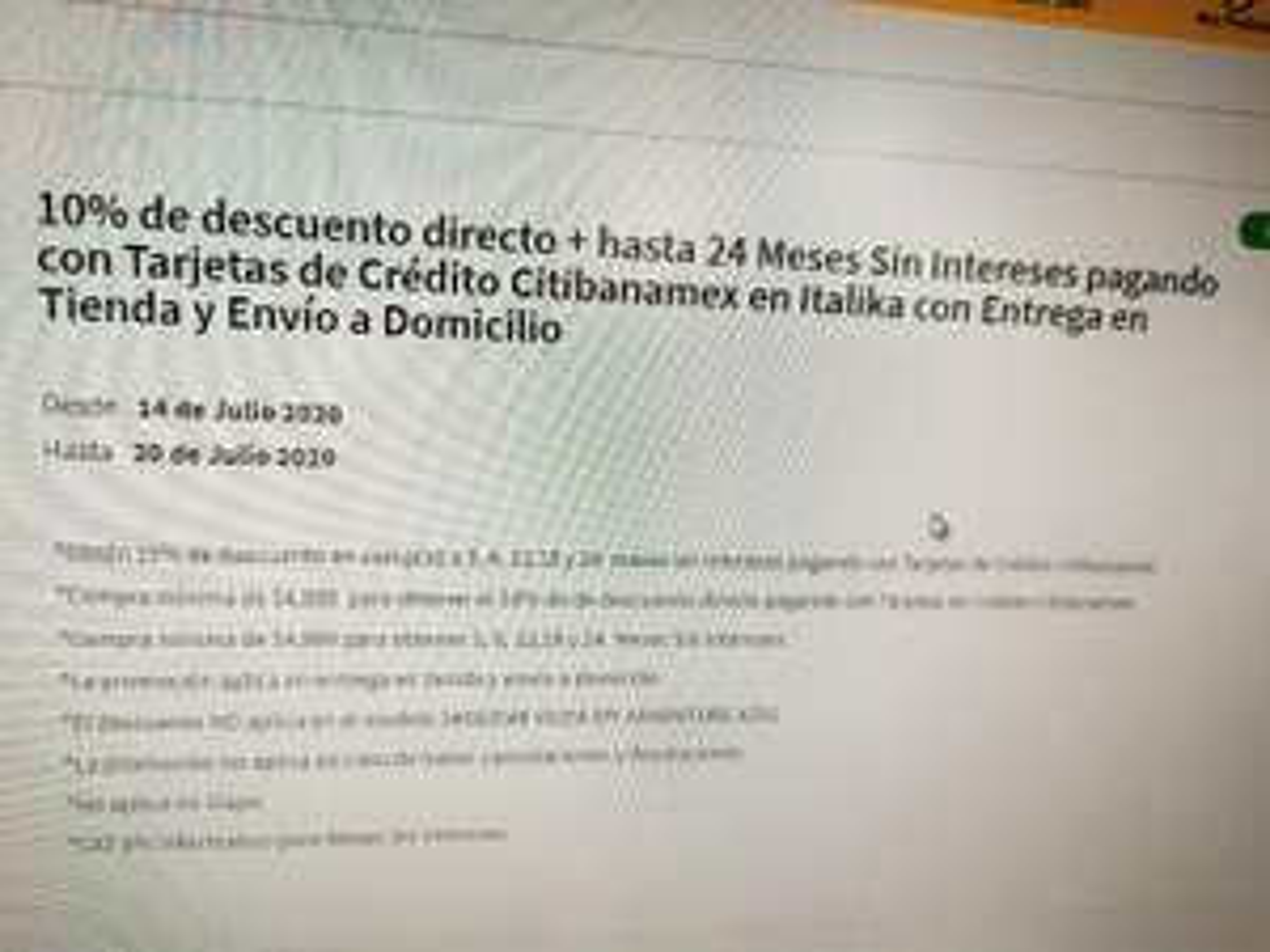 Elektra: 10% de descuento en Italika pagando con Banamex a 24 msi