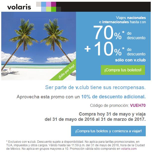 Promociones Hot Sale Volaris: Hasta 70% descuento en vuelos nacionales e internacionales