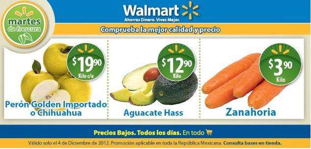 Martes de frescura Walmart diciembre 4: aguacate $12.90, zanahoria $3.90 y +