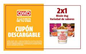 Cupones oxxo: Sopa Nissin 2x1