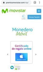 Movistar Tajeta de regalo Itunes