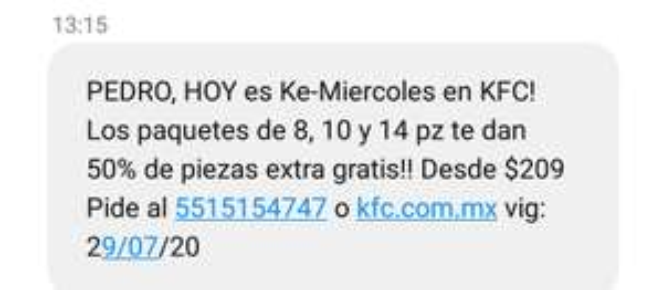 Ke-Miercoles en KFC 50% de piezas extra gratis!!