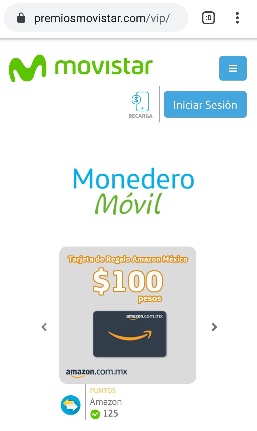 Movistar Tarjeta regalo 100 amazon