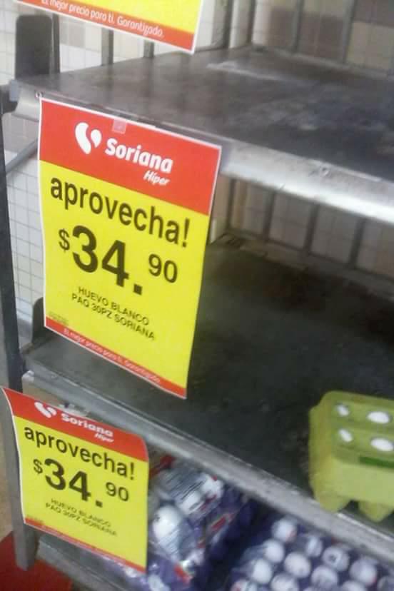 Soriana: cartera de huevo a $34.90 con tarjeta de puntos