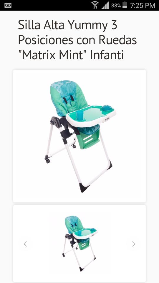 Oferta del Hot Sale en Babyup: silla para comer de bebes a $799 o menos