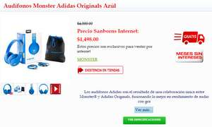 Sanborns: Audífonos Monster Adidas Originals a $1498
