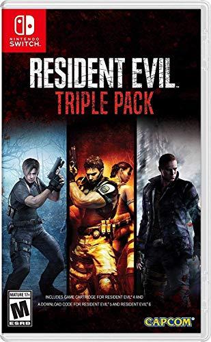 Amazon : Triple pack resident evil 4, 5 y 6 nintendo switch