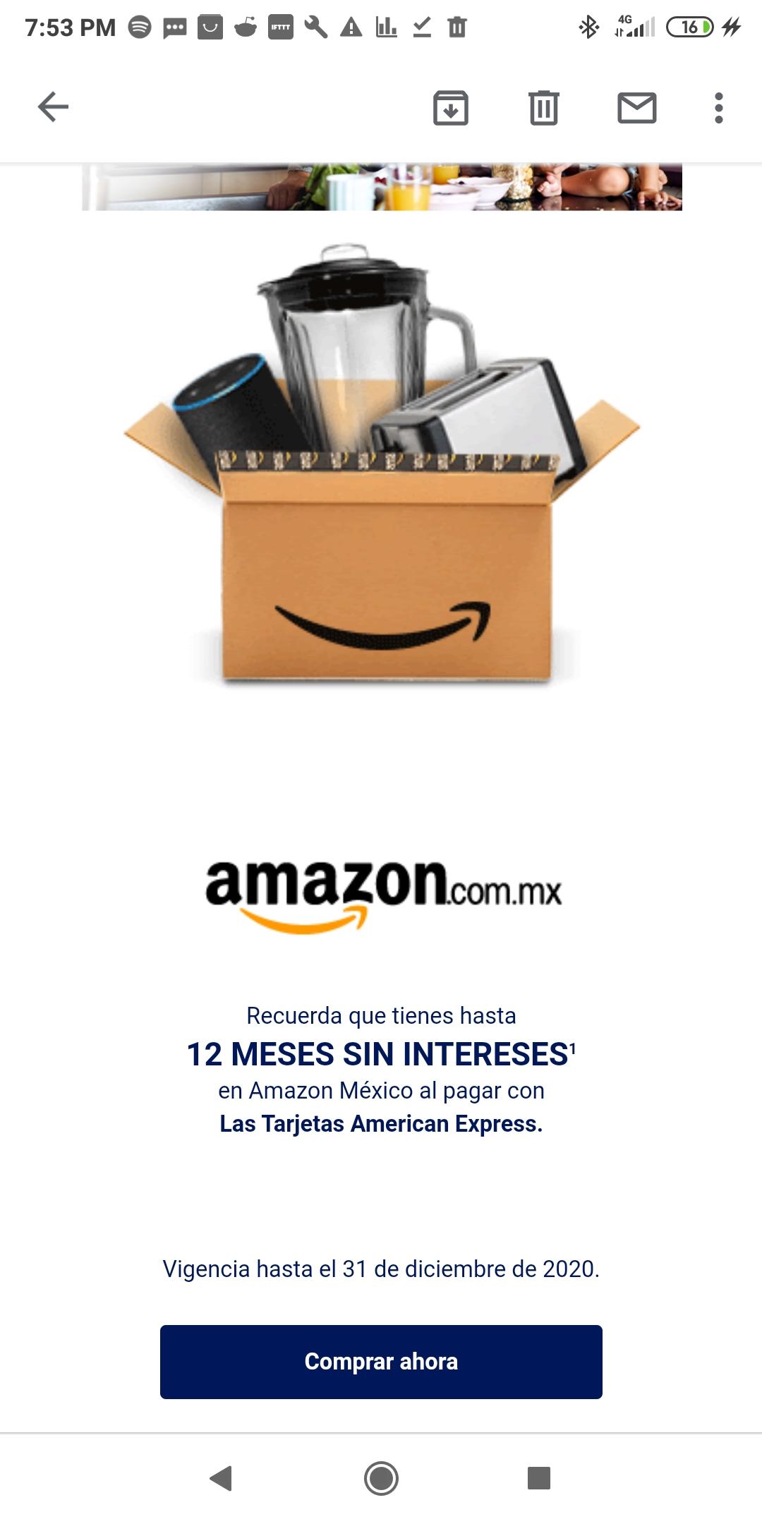 Amazon: American Express 12 MSI