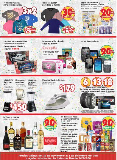 Mercado Soriana: monedero en licores, refrescos y celulares, 3x2 en playeras y +