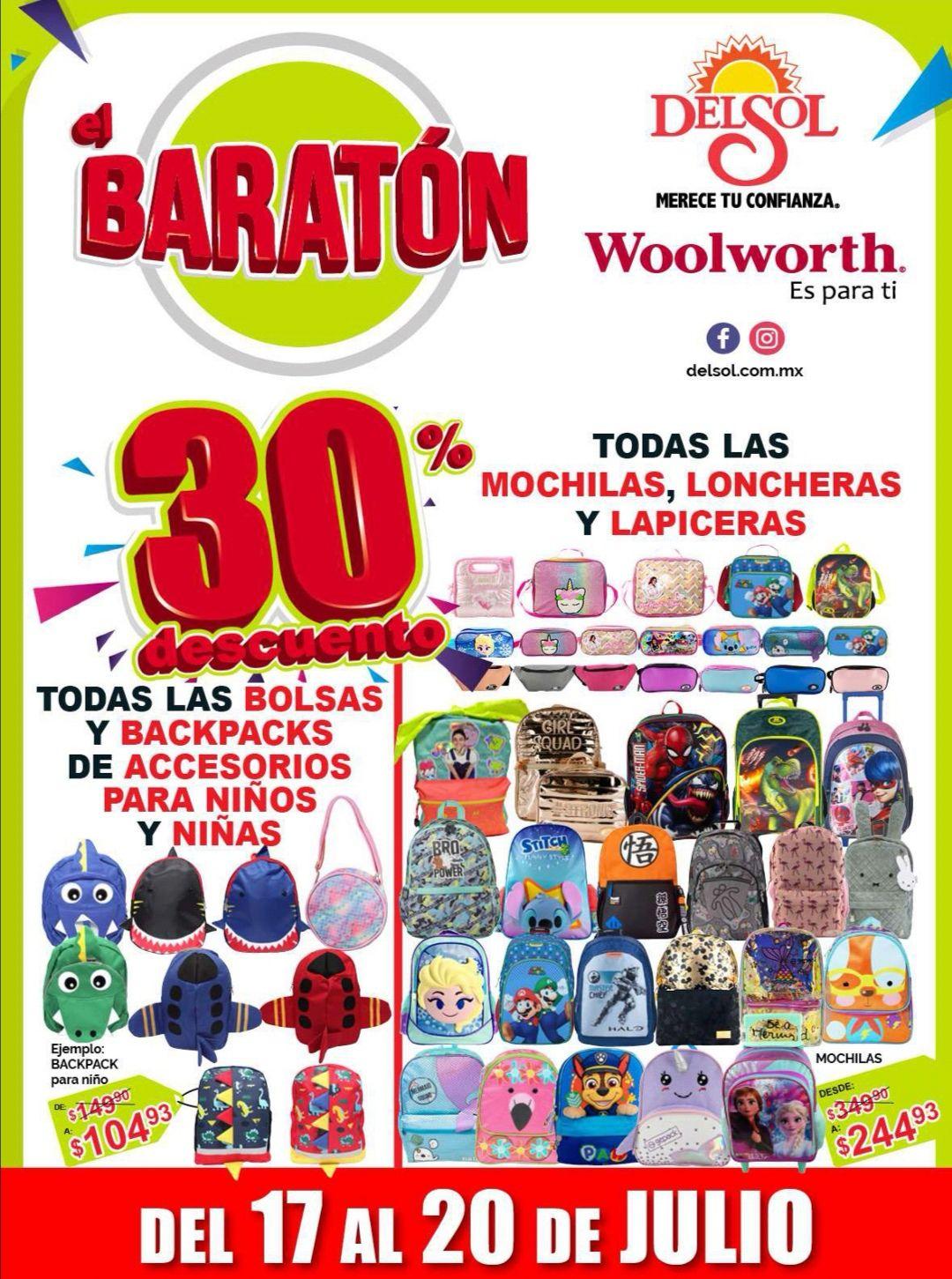 """Woolworth y Del Sol: 4° Folleto de Ofertas """"El Baratón"""" del Viernes 17 al Lunes 20 de Julio"""