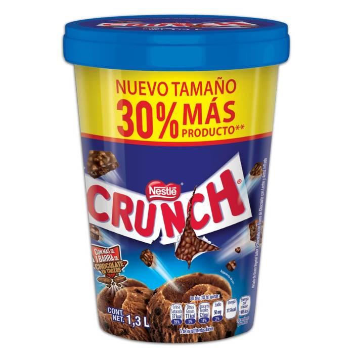 Superama : Helado Nestlé Crunch 1.3l 3x$130.00