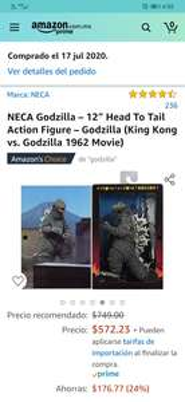Amazon: NECA Godzilla – 12″ Head To Tail Action Figure – Godzilla (King Kong vs. Godzilla 1962 Movie)