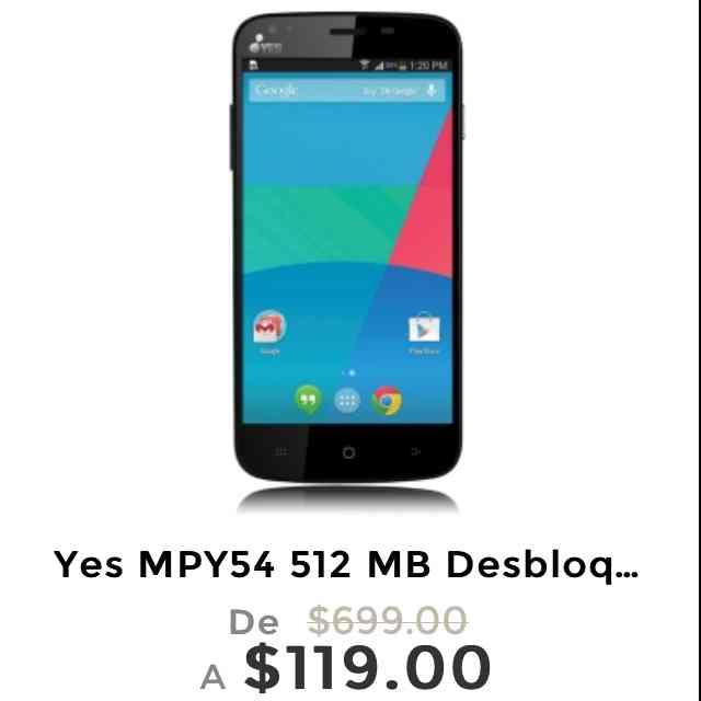 Ofertas Hot Sale Elektra: celular Yes MPY54 Desbloqueado a $119