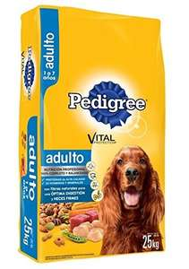 Amazon: bulto de croquetas Pedigree Adulto 25Kg a $292