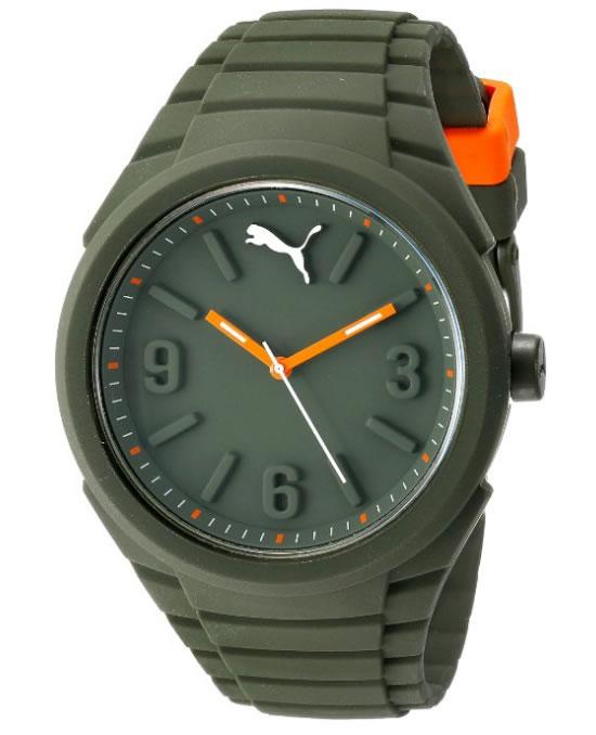 Amazon: Reloj Puma unisex color verde militar