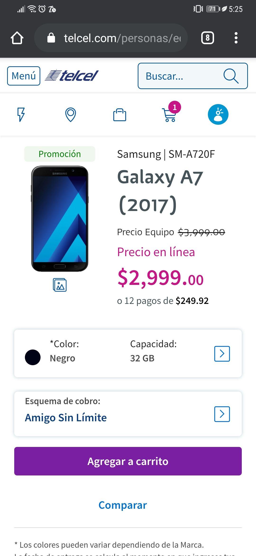Telcel A7 2017 ip68 32gb