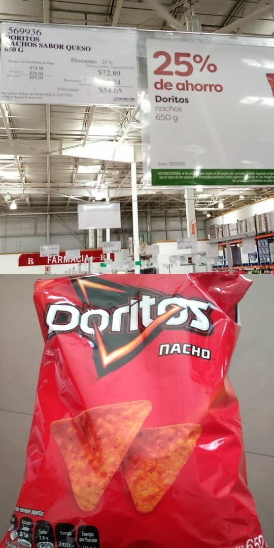 Costco Doritos nachos 650g por $54.65