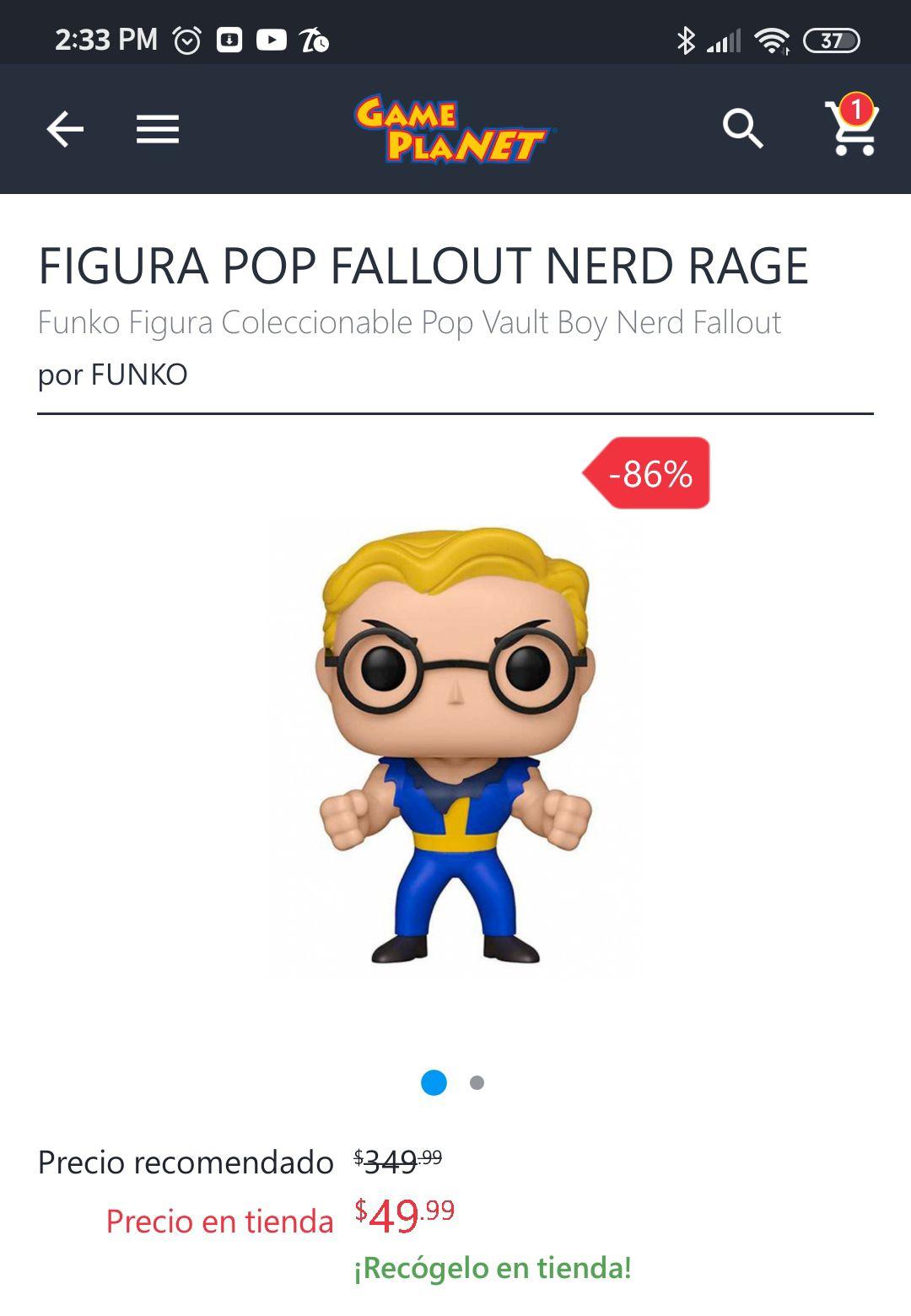 Game Planet: Funko Pop Fallout Nerd Rage