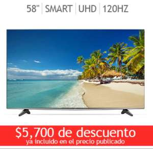 "Ofertas Hot Sale Linio: LG 58"" 4k Smart TV Ultra HD 120Hz a $16,499 con cupón"