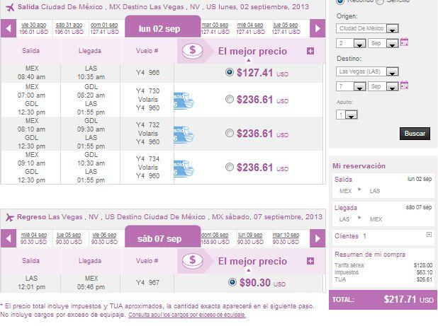 Volaris: viajes nacionales desde $699 y a Estados Unidos desde $129 dolares