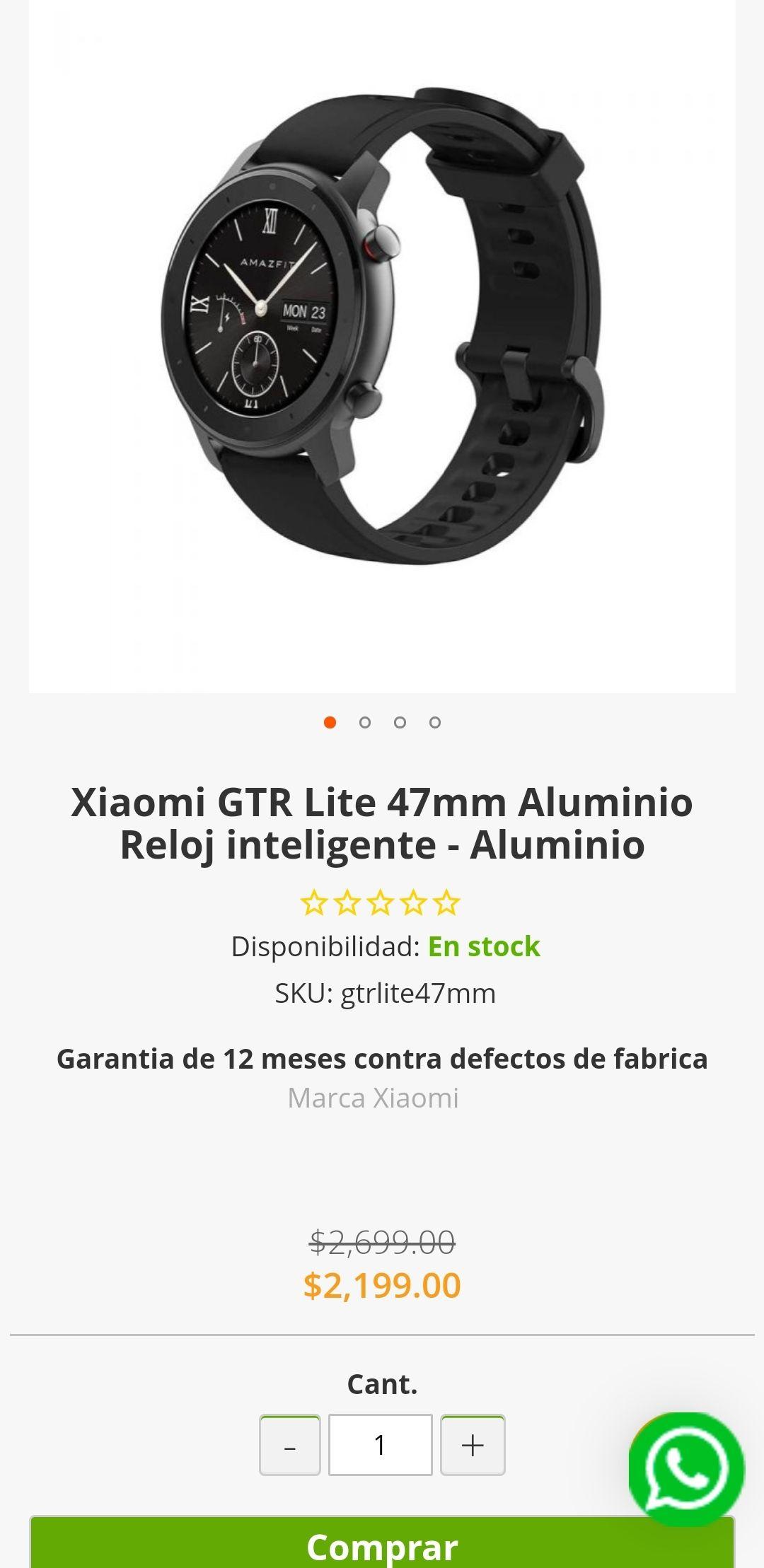 Doto: Xiaomi GTR Lite 47mm Aluminio