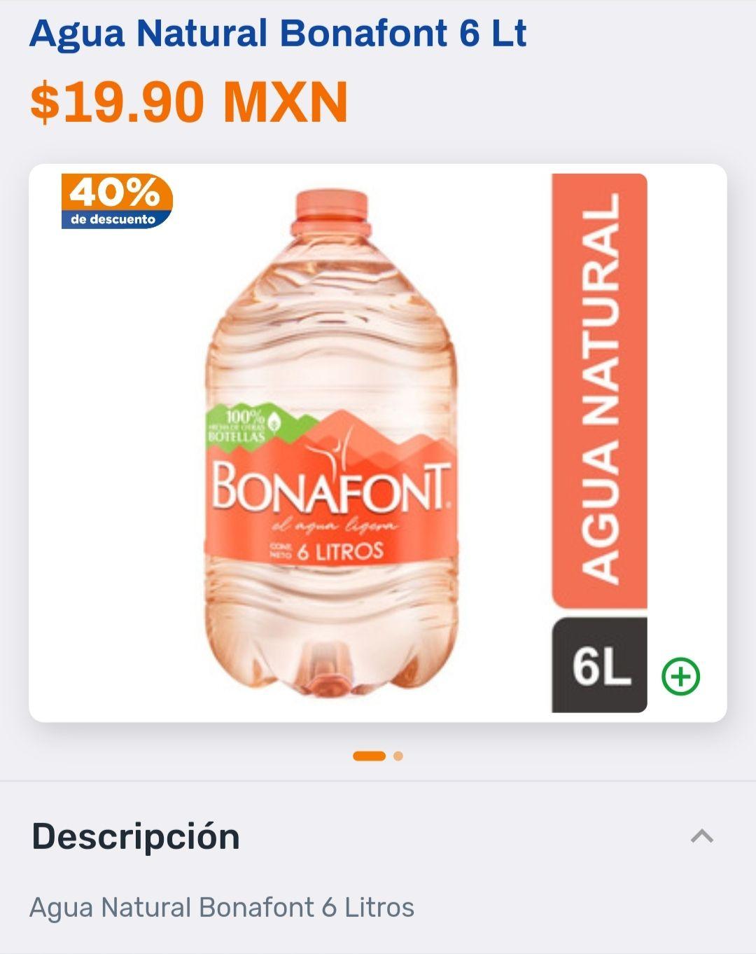Chedraui: Agua bonafont (varios) 40% de descuento.