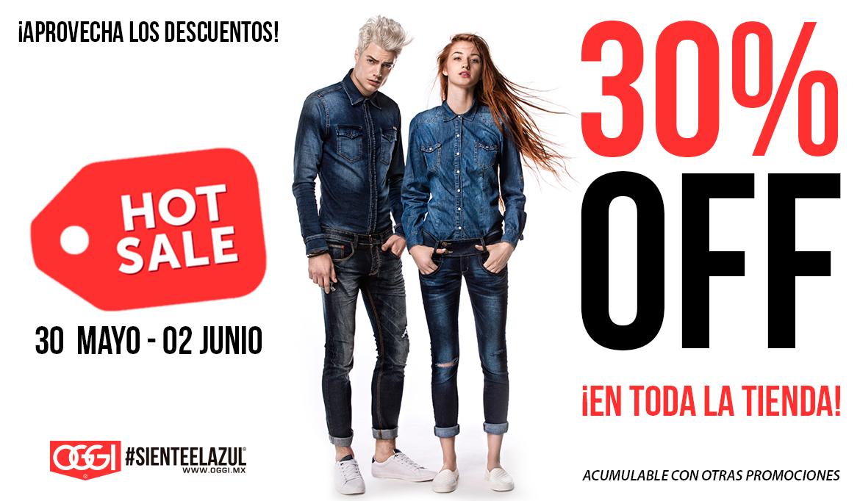 Ofertas Hot Sale en Oggi Jeans: 30% + 10% pagando con mercado pago + 10% si es tu primera