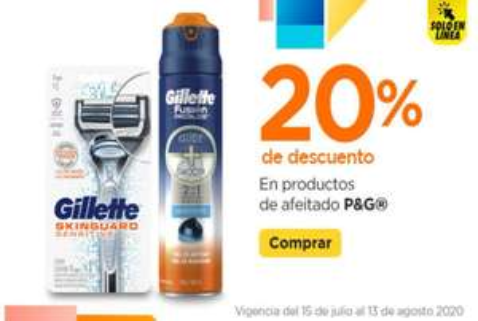 Chedraui: 20% de descuento en todos los productos de afeitado P&G (Gillette, Venus, Perma Sharp)