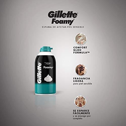 Amazon: Gillette Espuma Para Rasurar Piel Sensible 2x322ml