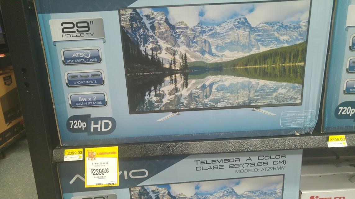 """Walmart: Pantalla 29"""" ATVIO a $2,399"""