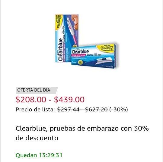 Amazon: Clearblue con 30% de descuento