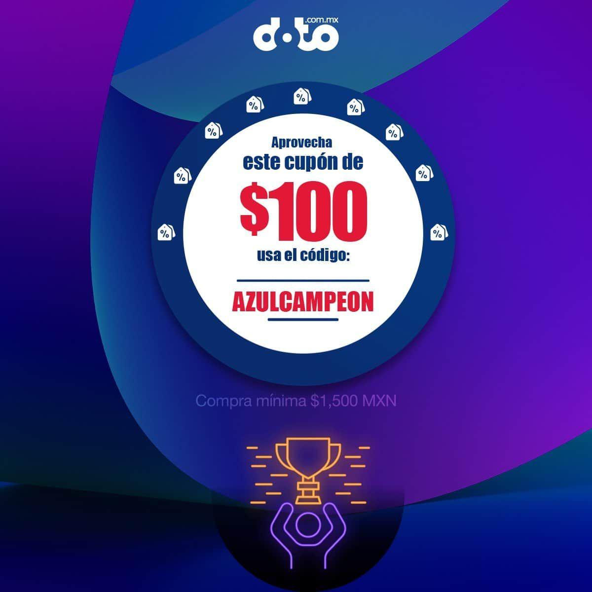 Doto: Cupón de $100 de descuento en doto.com.mx