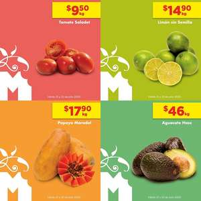 Chedraui: MartiMiércoles de Chedraui 21 y 22 Julio: Jitomate $9.50 kg... Limón $14.90 kg... Papaya $17.90 kg... Aguacate $46.00 kg.