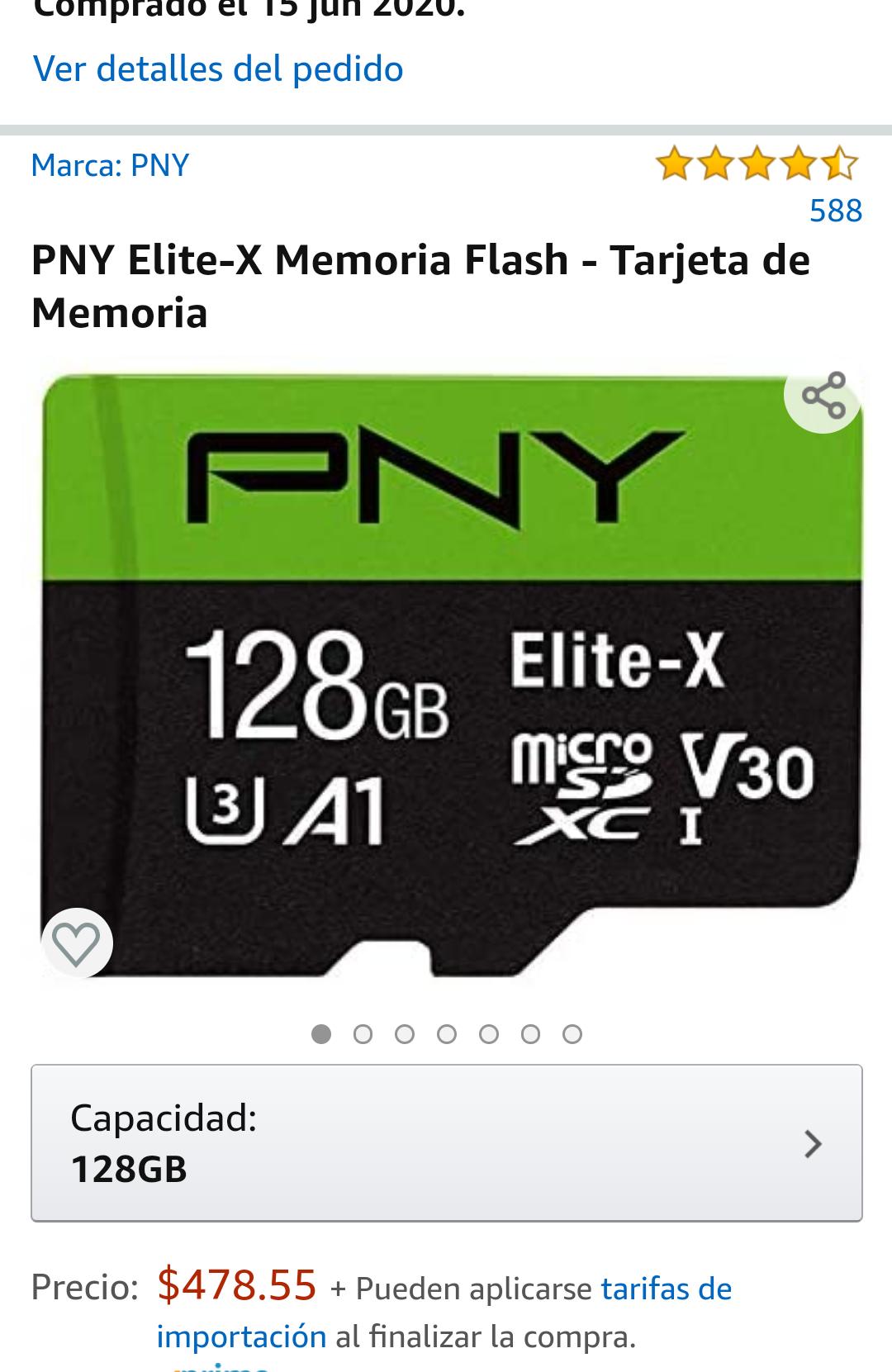 Amazon: Micro SD 128gb PNY