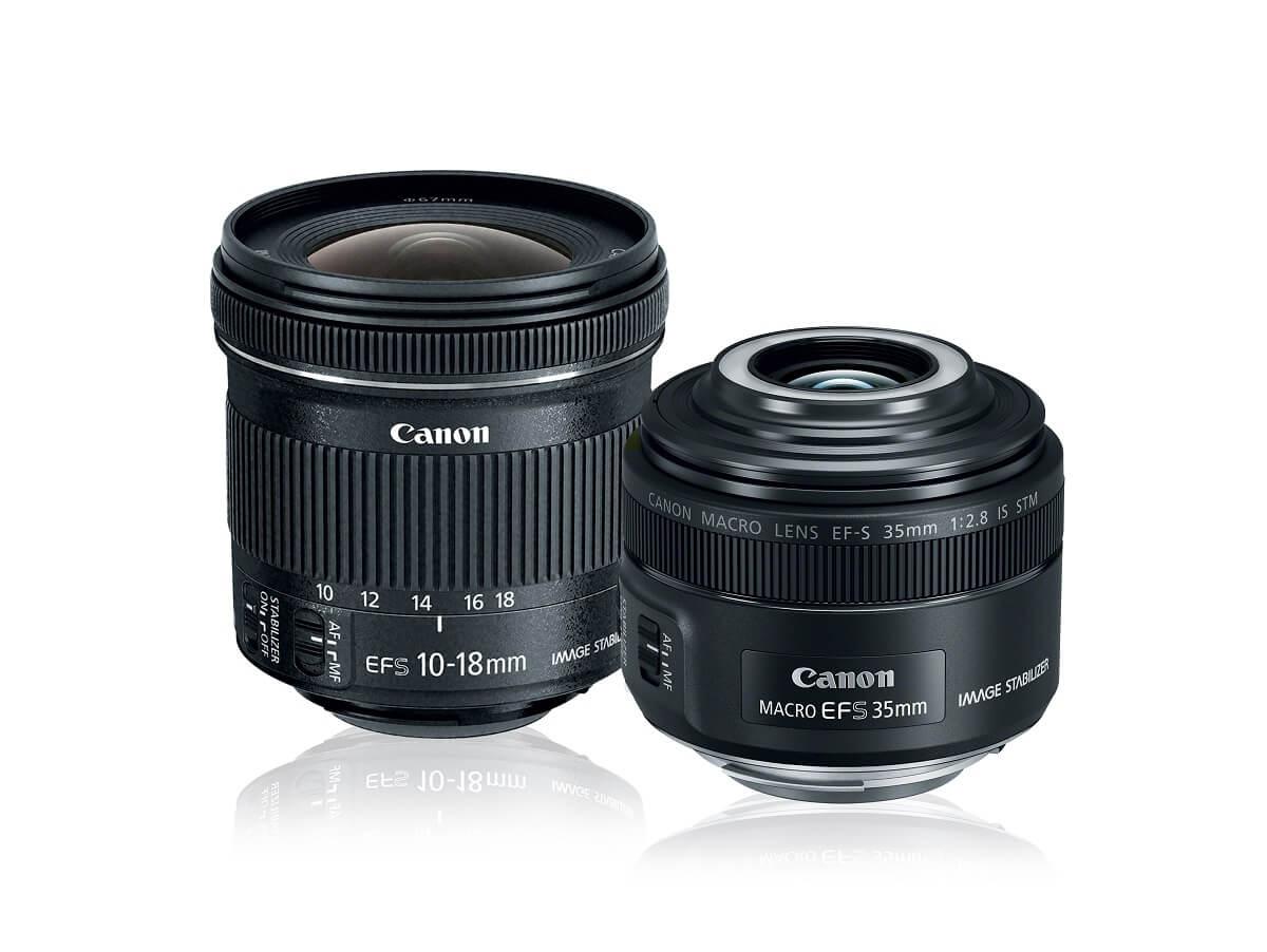 Best Buy Canon – Kit de Lentes – EF-S 10-18 mm IS y EF-S 35mm f/2.8 Macro IS STM – Negro