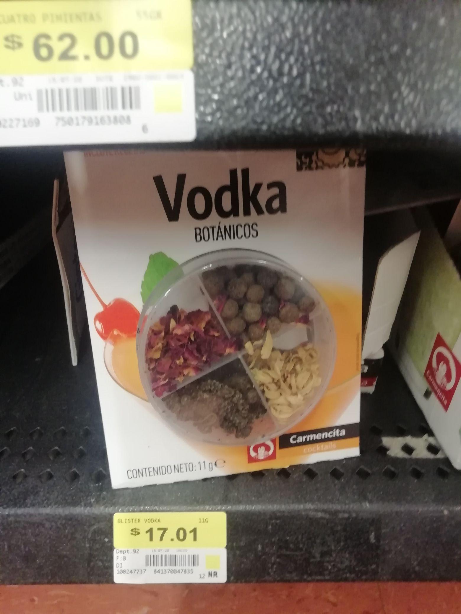 Vodka botánico y Azafrán molido *Walmart Felipe Pescador Dgo*