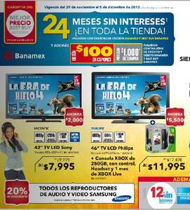 "Best Buy: $100 en cupones x cada $1,000, TV LED 42"" Sony $7,999 y más"