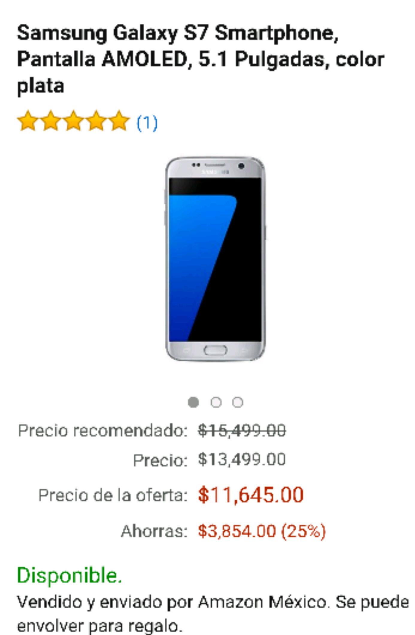 Hot Sale Amazon: S7Fflat a $11,645 baja aún más con Banamex