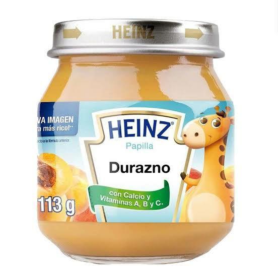 Farmacia San Pablo:Heinz papilla de durazno 113g (Durazno y Mango)