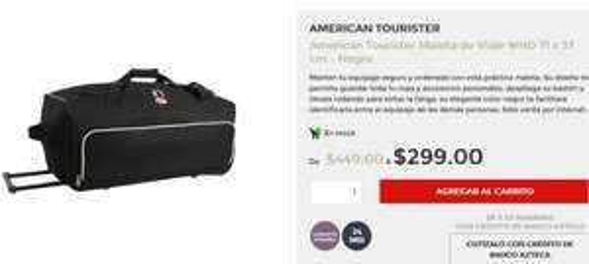 Hot Sale en Elektra: Maleta de Viaje - American Tourister