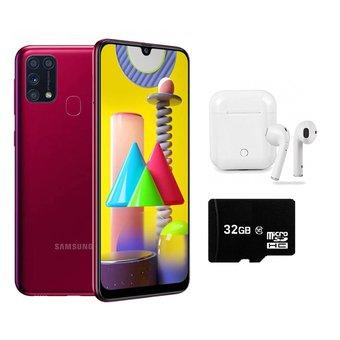 """Linio: Celular Samsung Galxy M31 NACIONAL 6.4"""" 6GB RAM + 128GB + Audifonos BT y MicroSD 32GB"""