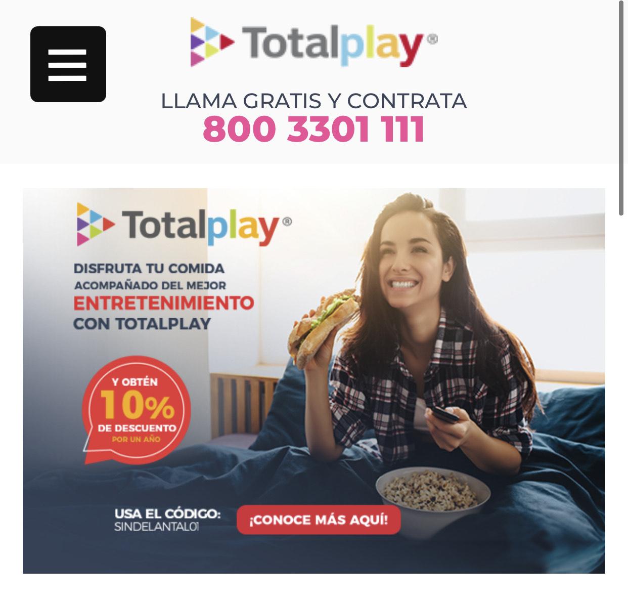 Totalplay: 10% en paquetes con Netflix x 12 Meses